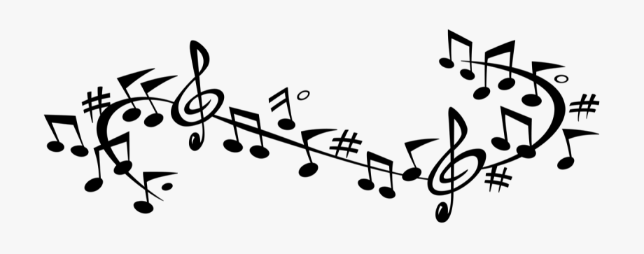 Music banner clipart image library download Note Transparent Clipart Free - Music Banner Black And White ... image library download