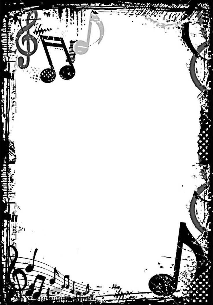 Music borders clip art jpg black and white stock Free clipart music borders frames - ClipartFest jpg black and white stock