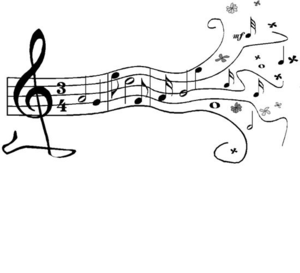 Music borders clip art png black and white stock Music Note Border - Clipartion.com png black and white stock