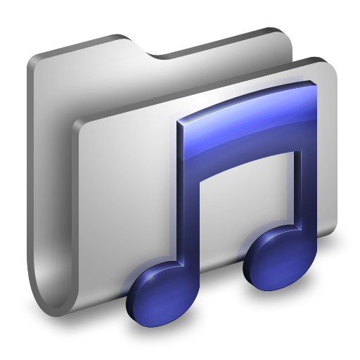 Music folder clipart vector freeuse 3D Music Folder White Icon, PNG ClipArt Image | IconBug.com vector freeuse