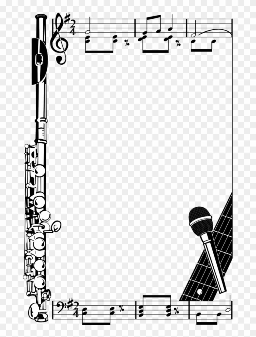 Music frame clipart image transparent Music Notes Borders Png Illustration Of A Frame Clipart ... image transparent