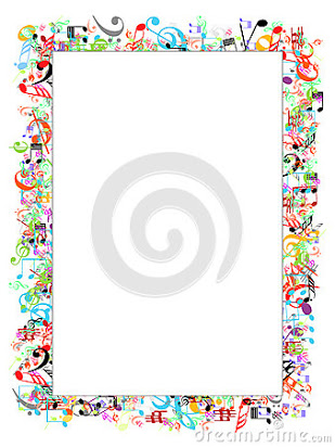 Music frame clipart image royalty free library Free music note page border image royalty free library
