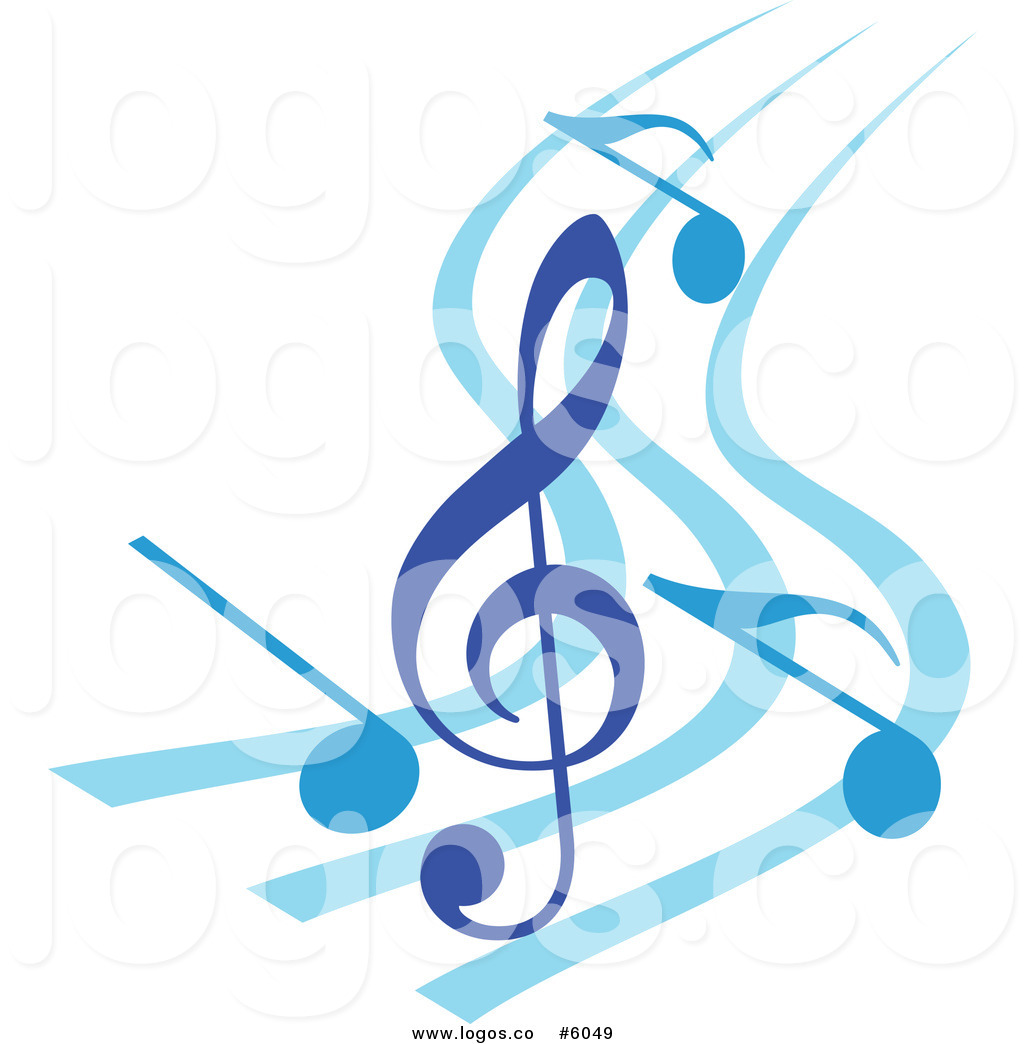 Music logo design clipart transparent stock Royalty Free Vector of a Logo of a Blue Music Notes and Clef on ... transparent stock