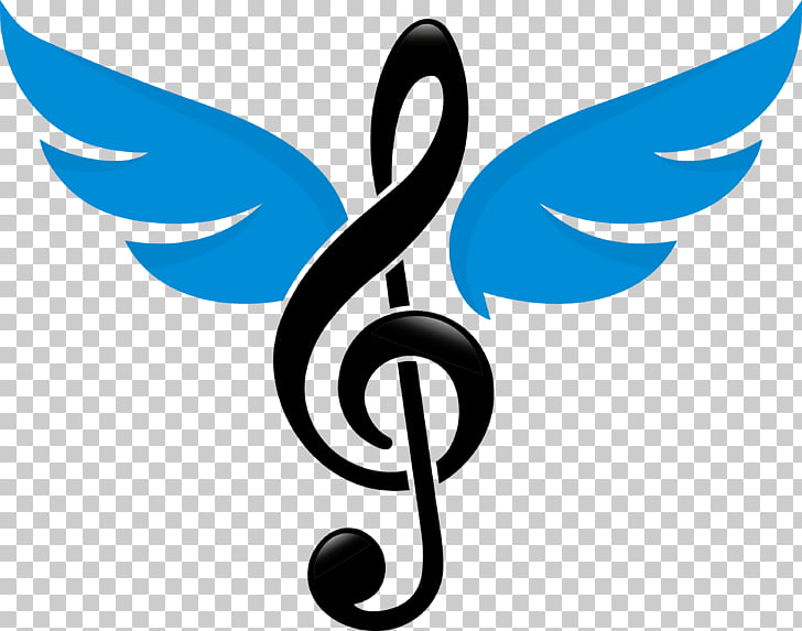 Music logo design clipart banner library stock Musical note Logo Clef, Music logo design, g-clef with blue wings ... banner library stock