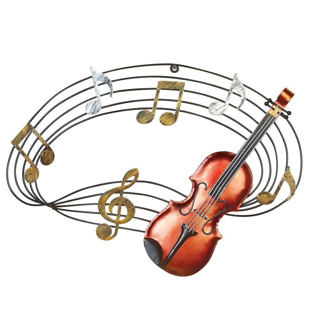 Music note coming out of violin clipart clip art freeuse download Music Notes and Violin Wall Art: Amazon.ca: Home & Kitchen clip art freeuse download