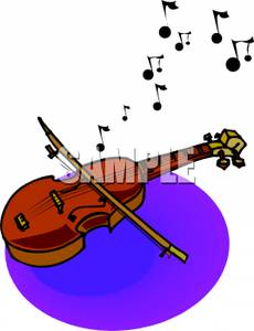 Music note coming out of violin clipart clipart black and white library Music Notes Coming From a Violin - Royalty Free Clipart Picture clipart black and white library