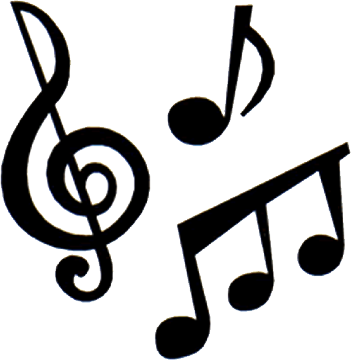 Music note heart clipart png black and white library Music Symbol Silhouette at GetDrawings.com | Free for personal use ... png black and white library