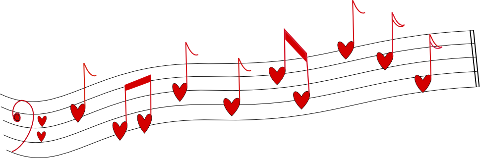 Music note heart clipart banner library stock Beyond the Fringe: Organization, Free Heart Notes Digi banner library stock