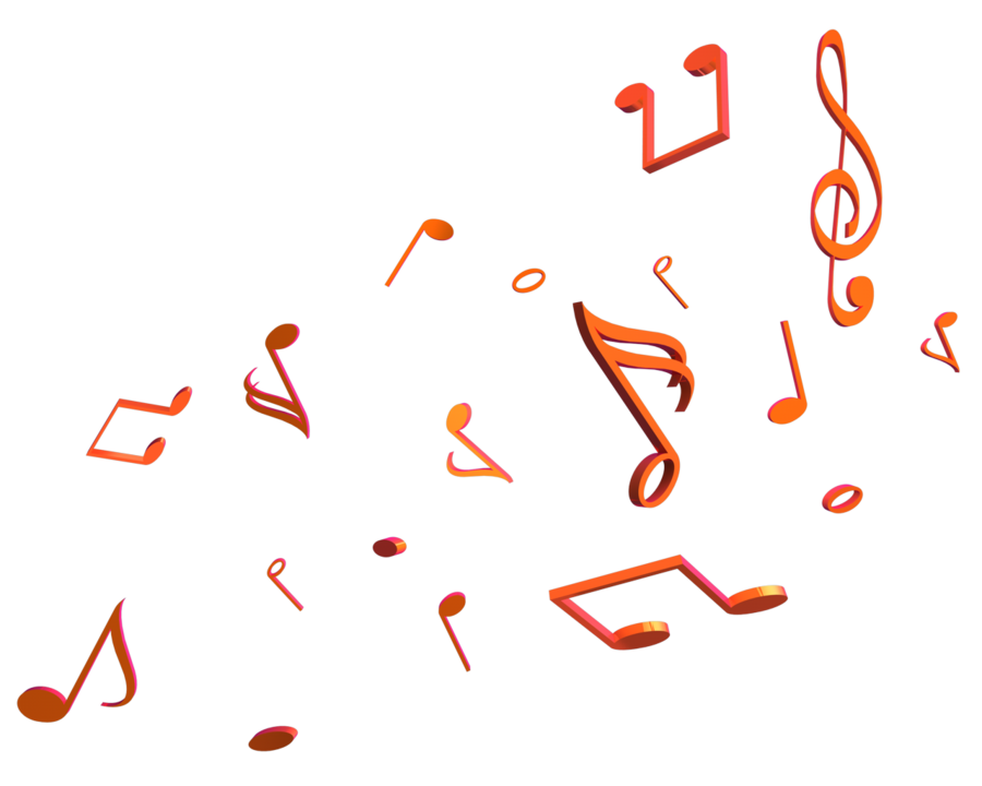 Music note heart clipart banner free Music Notes Render by Taz09 on DeviantArt banner free