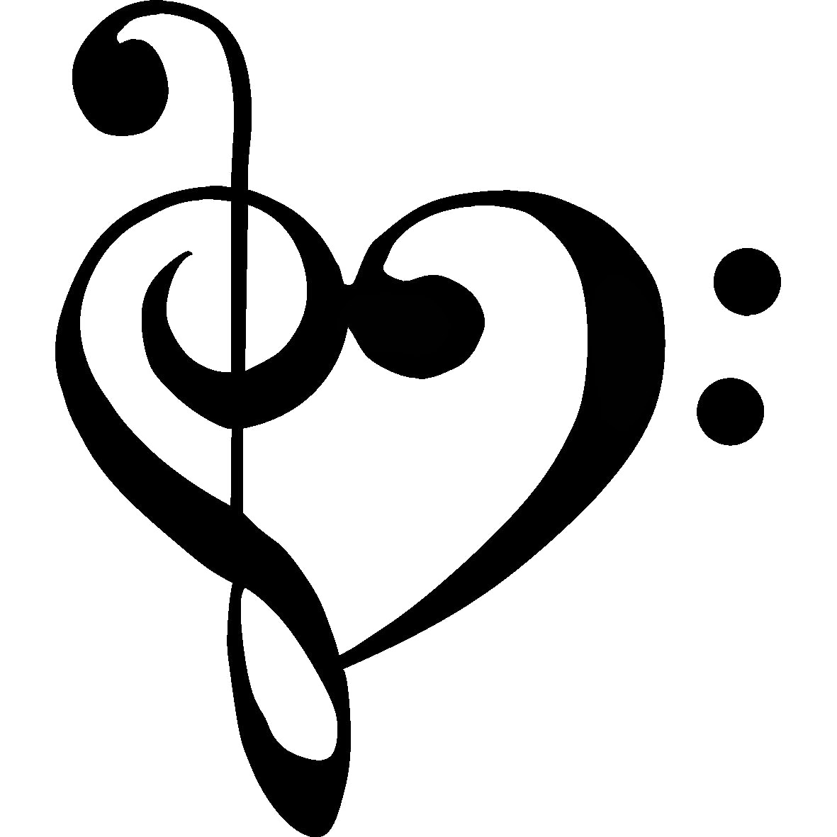 Library of music notes heart svg black and white download ...