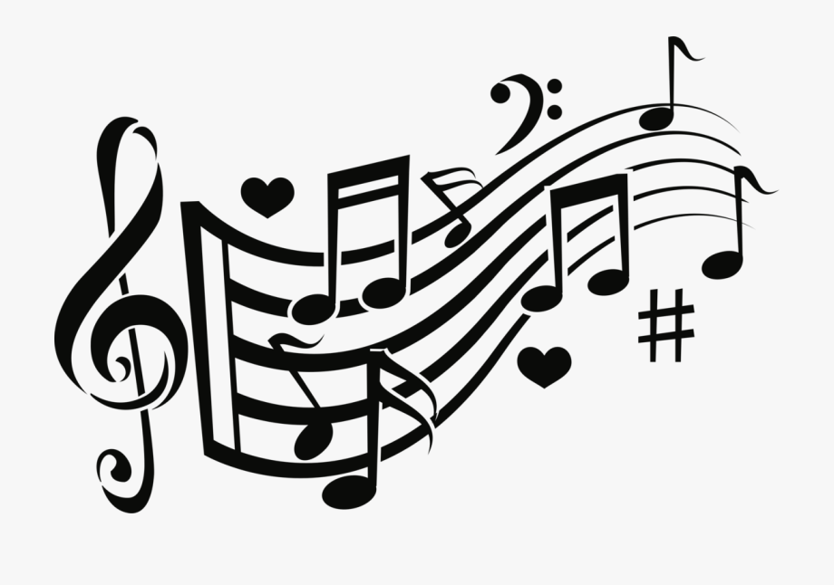 Music note icon clipart banner black and white download Melody Musical Note Musical Notation Computer Icons ... banner black and white download