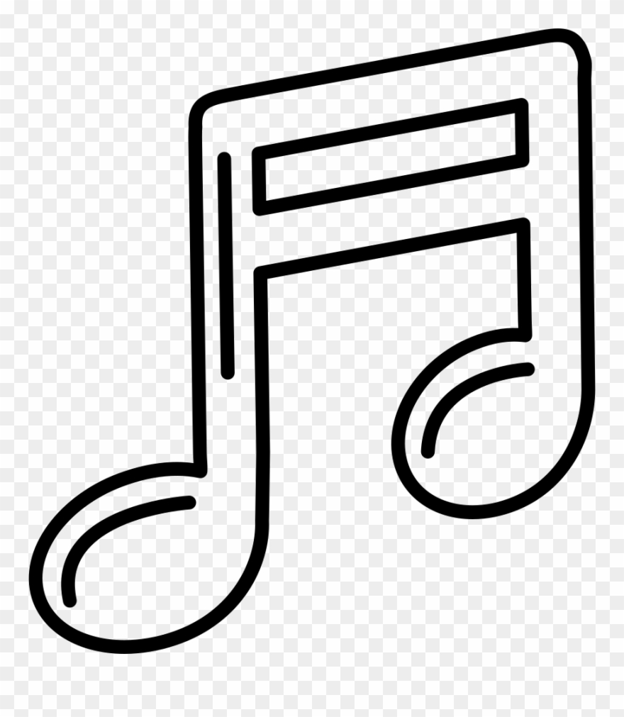 Music note outline clipart clip art royalty free download Musical Note Outline Comments Clipart (#3148771) - PinClipart clip art royalty free download