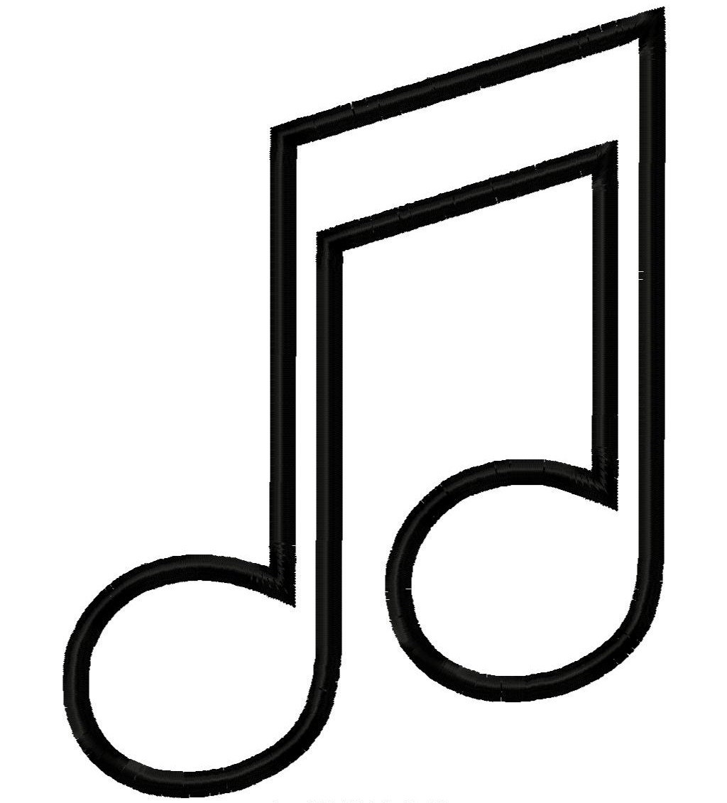 Music note outline clipart png free download Music Note Outline | Free download best Music Note Outline ... png free download