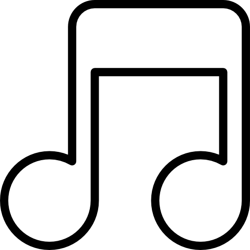 Music note outline clipart clip freeuse stock Musical note outline Icons | Free Download clip freeuse stock