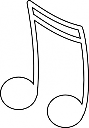 Music note outline clipart image library stock Music Note Outline - Making-The-Web.com image library stock