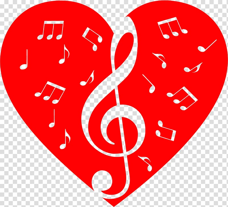 Musical note Musical theatre Heart , music notes transparent ... clip transparent download