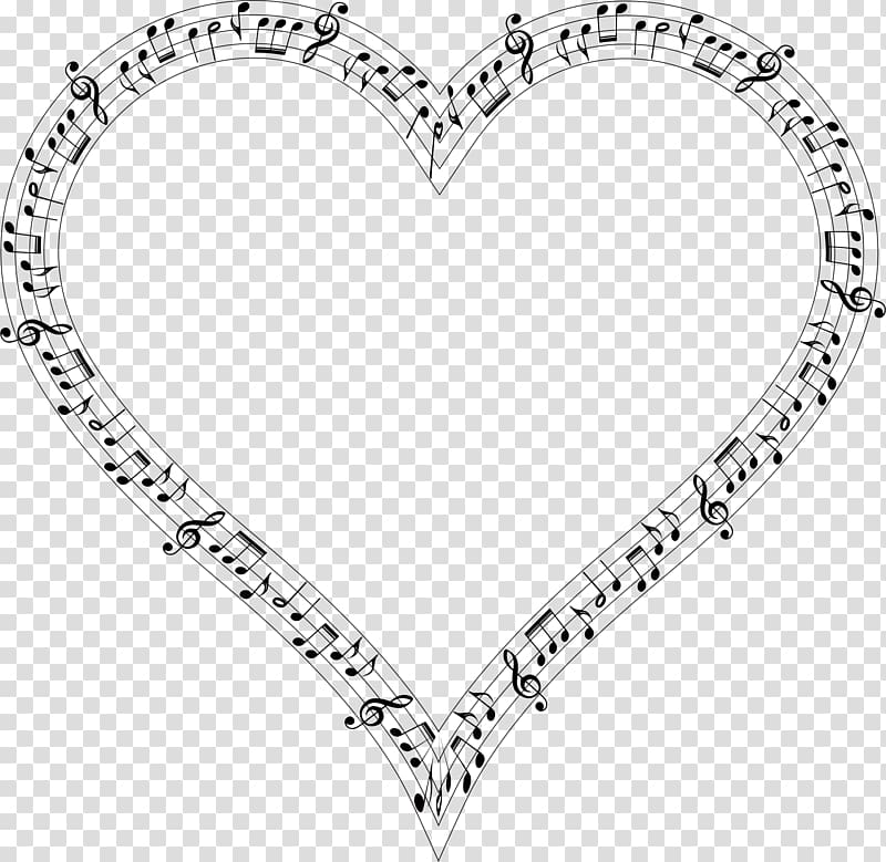 Musical note Heart Musical theatre, Notes transparent background PNG ... clip art royalty free stock