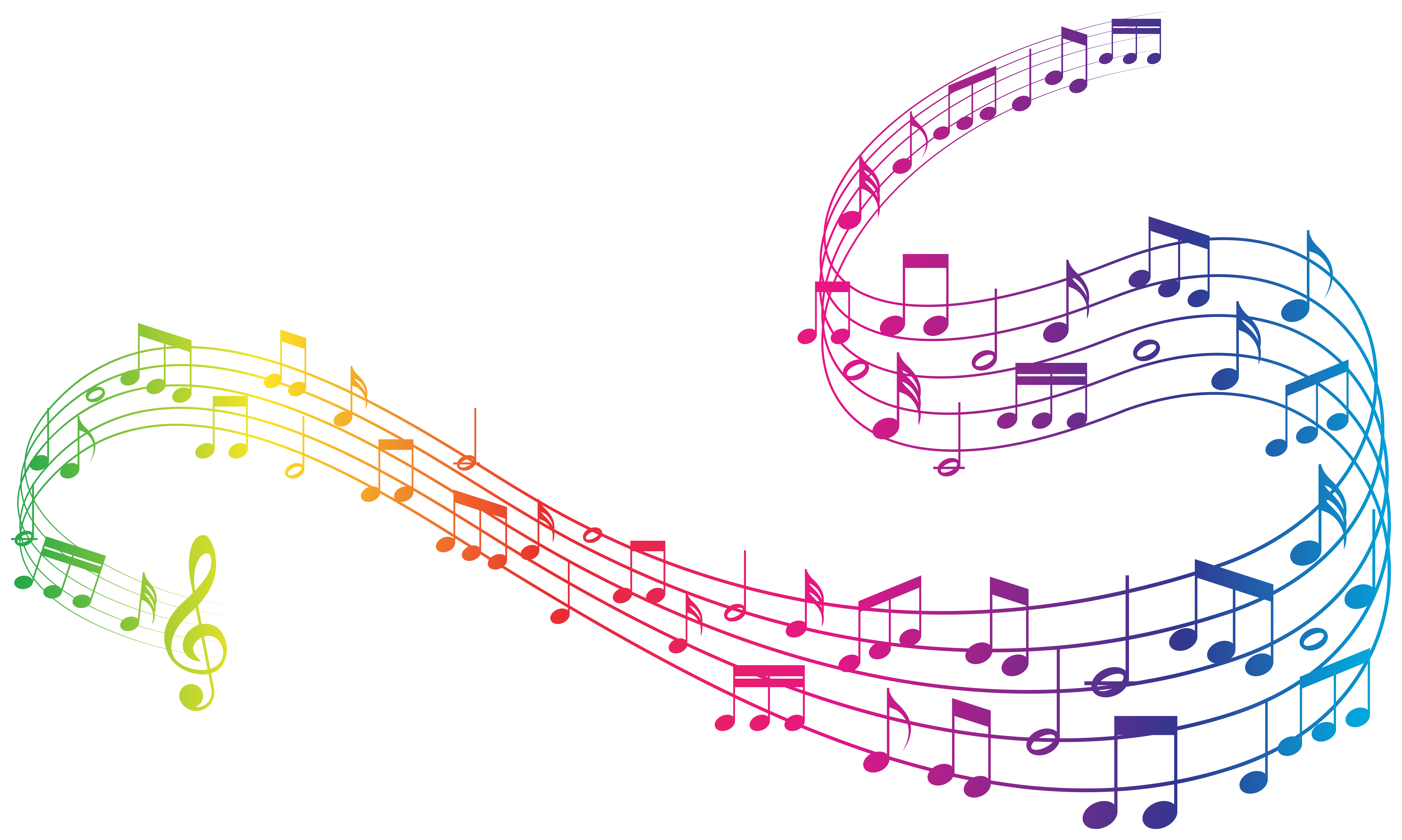 Music notes clipart colorful png transparent library Colorful Music Notes Clipart Image | Gallery Yopriceville - High ... png transparent library