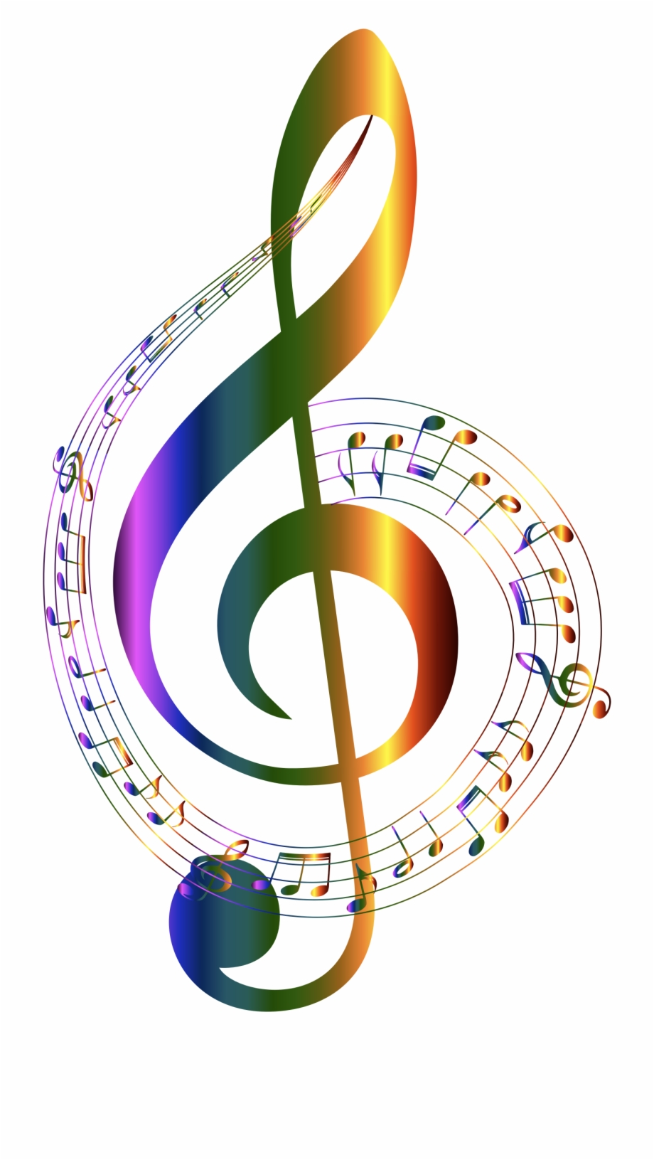 Music notes clipart colorful svg transparent stock Chromatic Musical Notes Typography No Background By - Transparent ... svg transparent stock