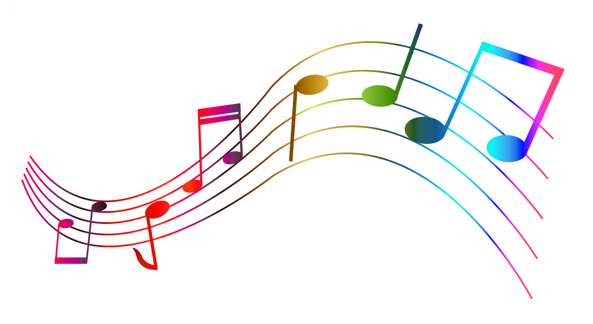 Music notes clipart colorful
