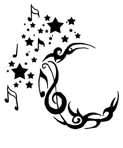 Music Notes Stars And Moon | Clipart Panda - Free Clipart Images vector free download