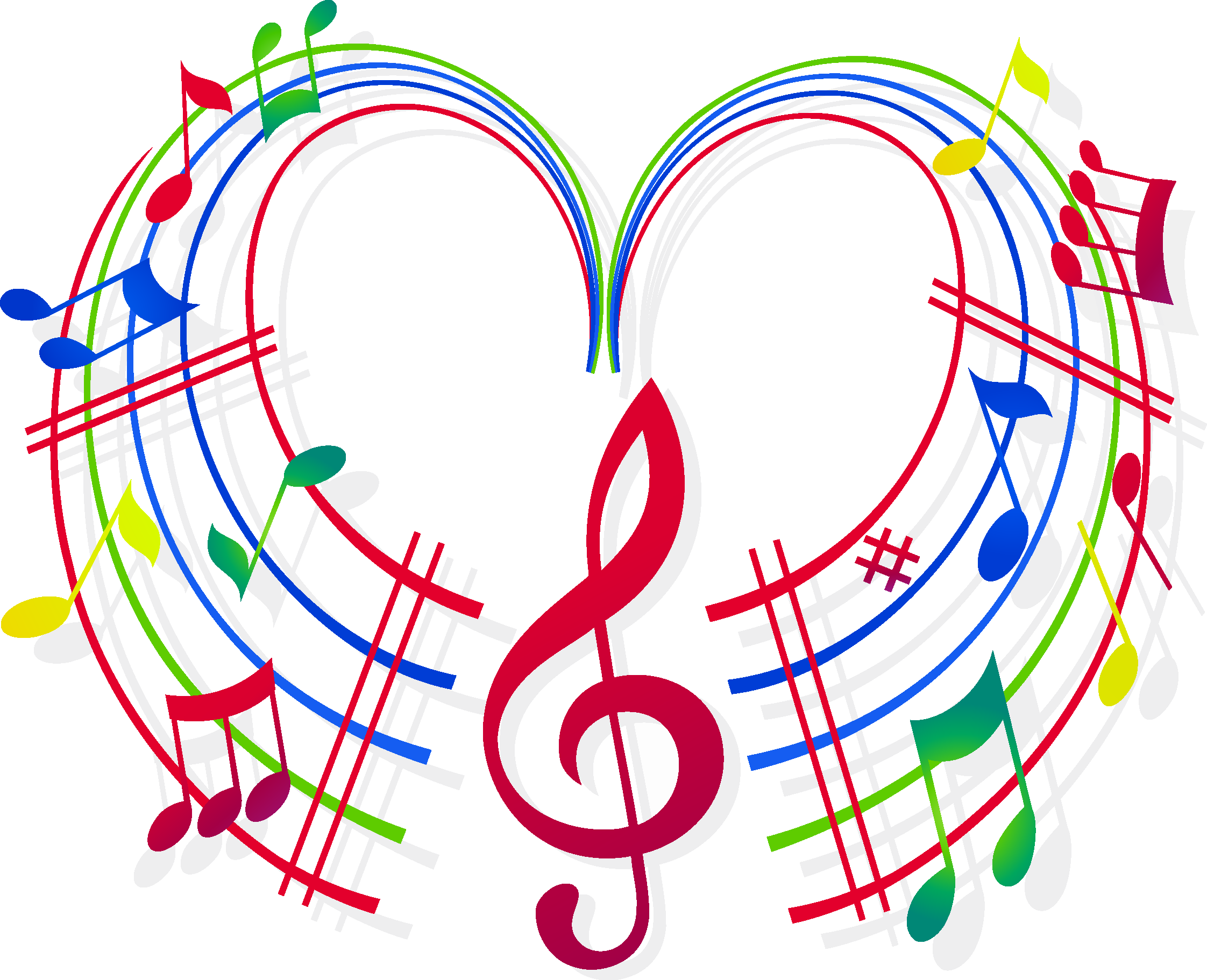 Music notes heart clipart clipart black and white download Musical note Choir - musical note 2244*1822 transprent Png Free ... clipart black and white download