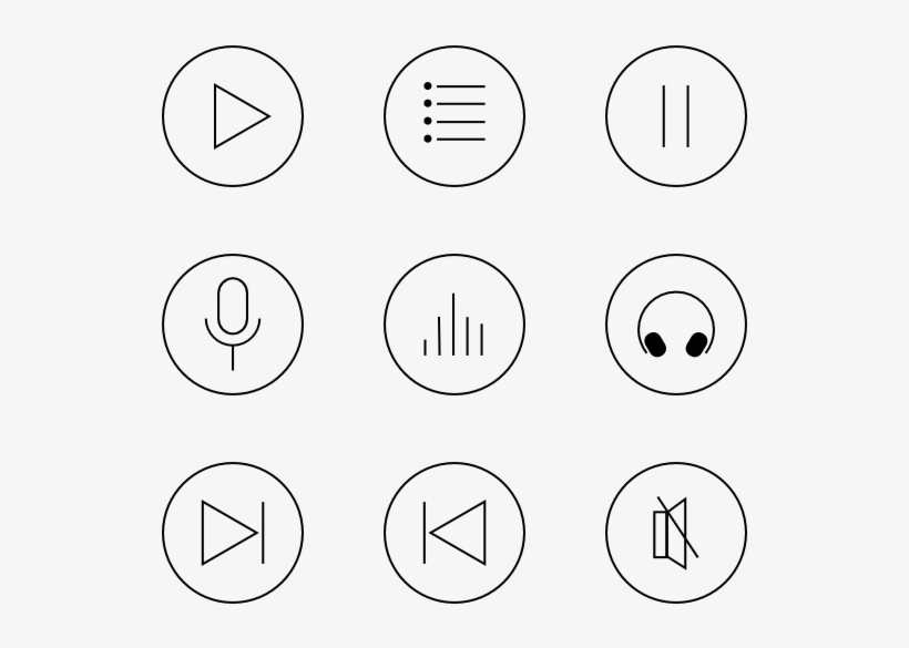 Music player icon clipart graphic Music Icons - Music Player Icons Free PNG Image | Transparent PNG ... graphic