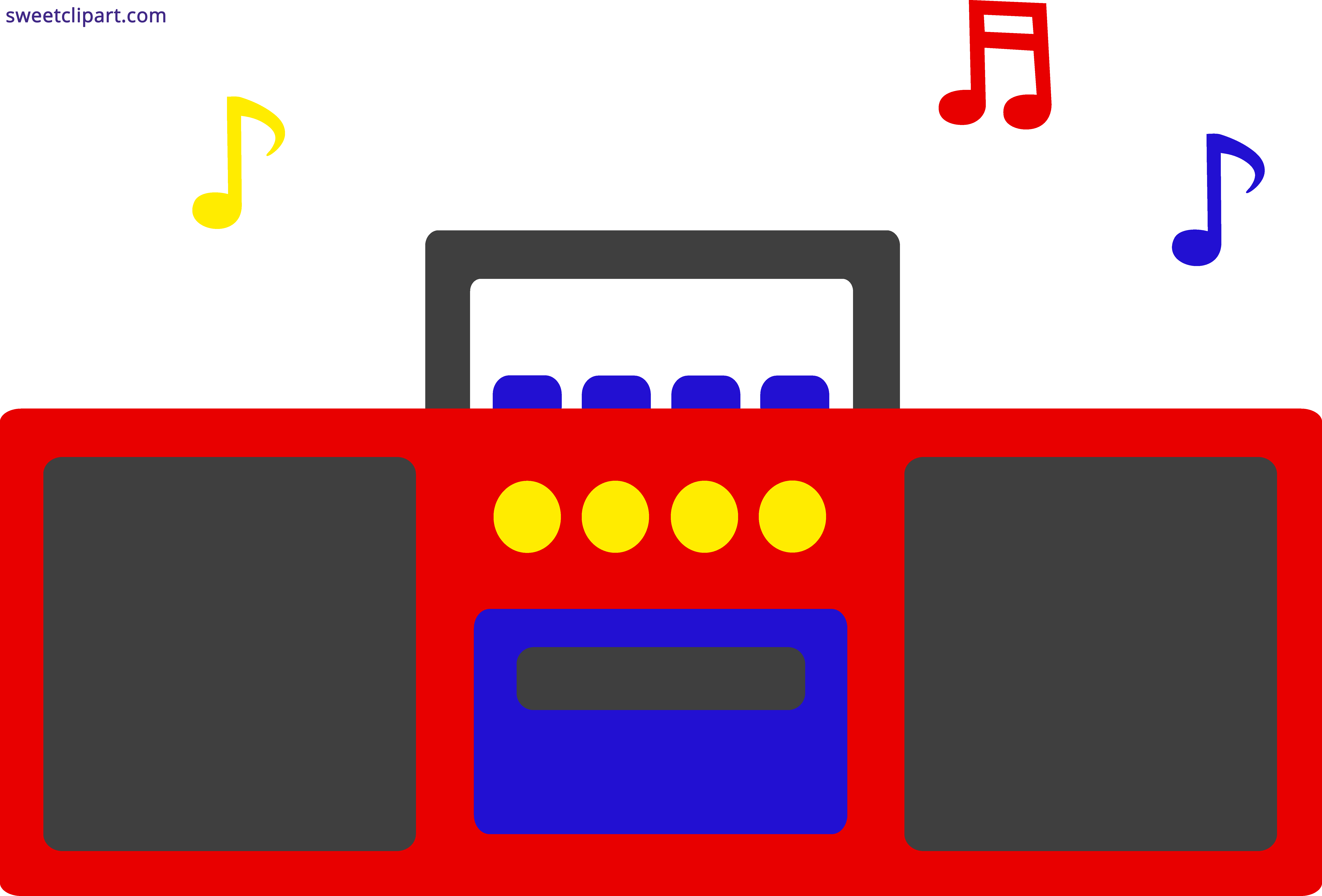Radio with music notes clipart clip Radio Music Notes Clipart - Sweet Clip Art clip