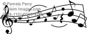 Music sheet clipart jpg transparent download Clip Art Picture of a Sheet Music Design with Musical Staff and ... jpg transparent download