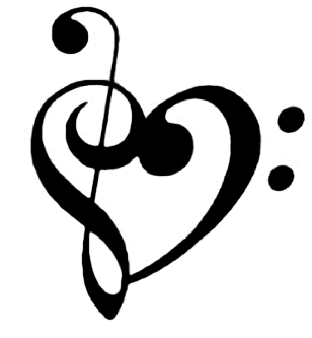Music simbols in a heart shape clipart clip royalty free Music Notes Heart | Free download best Music Notes Heart on ... clip royalty free