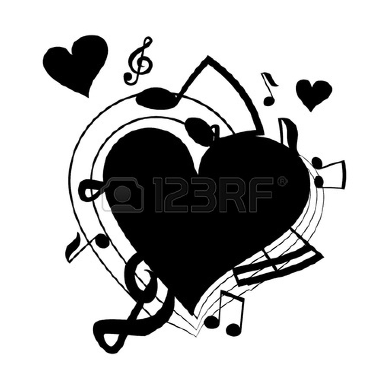 Music simbols in a heart shape clipart image free library Heart Shaped Music Notes | Clipart Panda - Free Clipart Images image free library