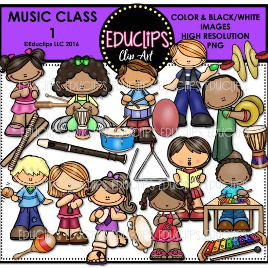 Music store clipart graphic freeuse stock Music Class 1 Clip Art Bundle (Color and B&W) | Clipart ... graphic freeuse stock