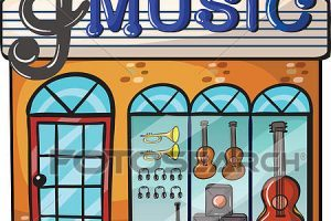 Music store clipart picture black and white Music store clipart 3 » Clipart Portal picture black and white