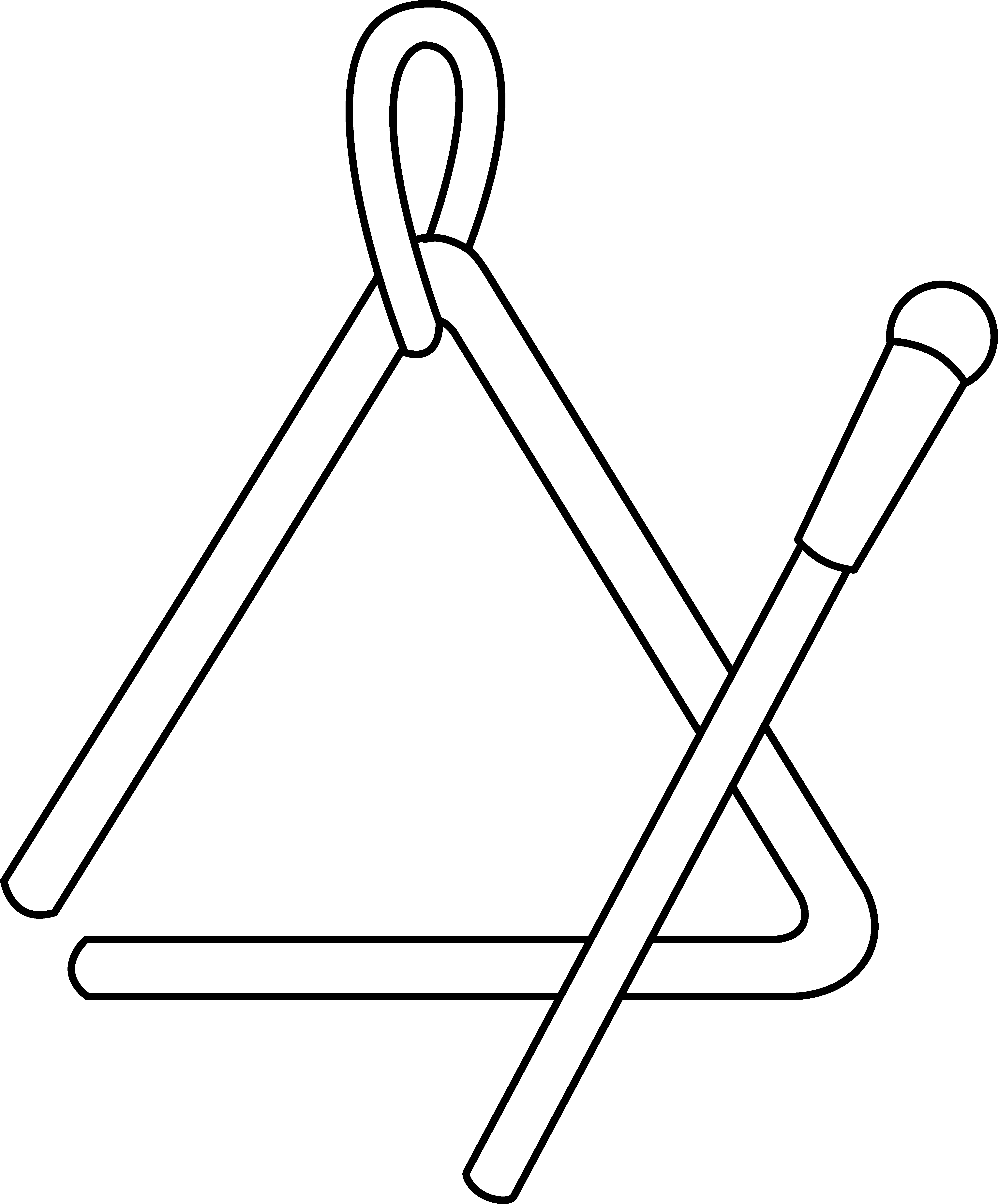 Music with cross clipart black and white jpg free library 28+ Collection of Triangle Instrument Clipart Black And White | High ... jpg free library