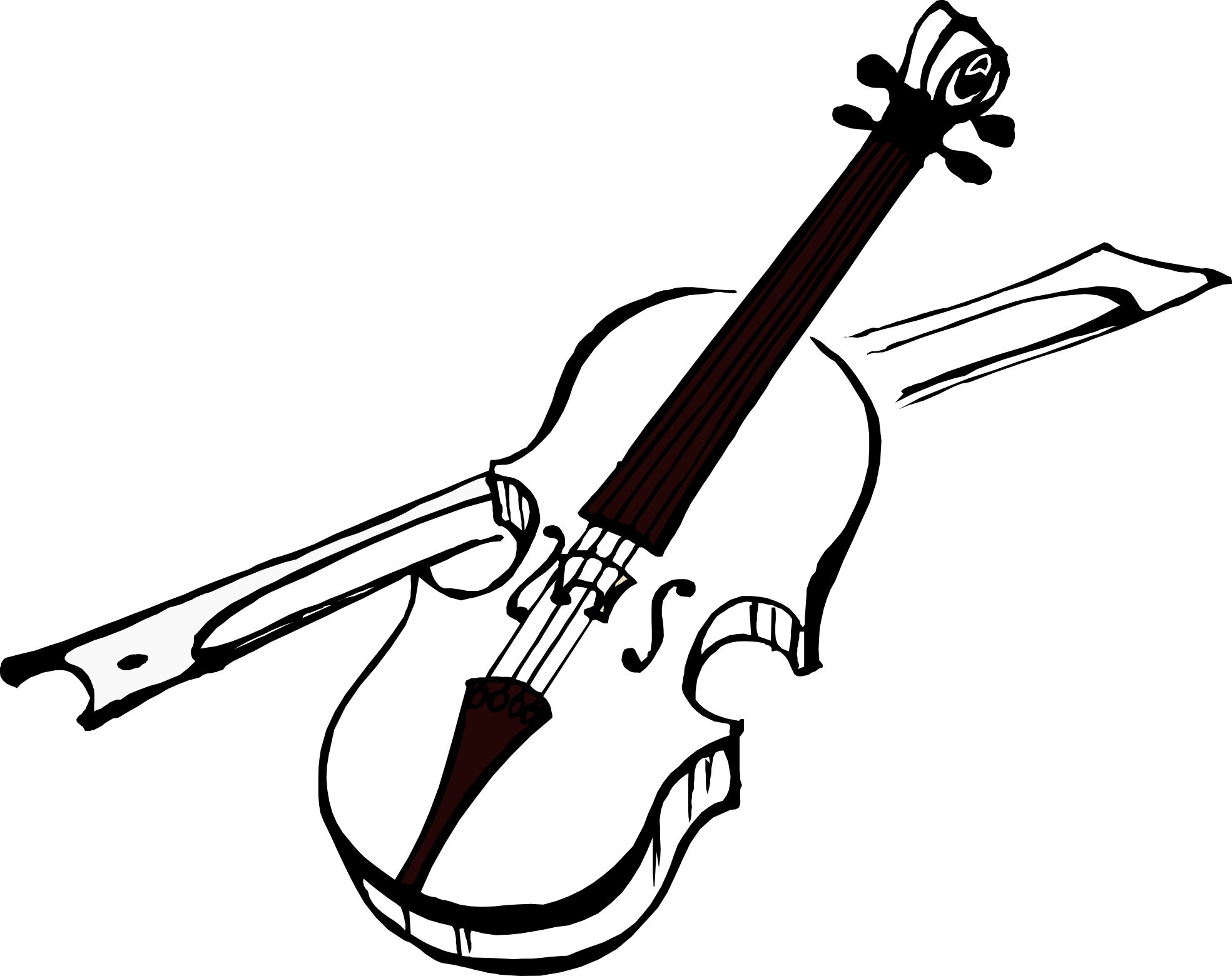 Music with cross clipart black and white image freeuse stock artfavor_violin_black_coloring_book-1969px.png (1969×1561) | Violin ... image freeuse stock