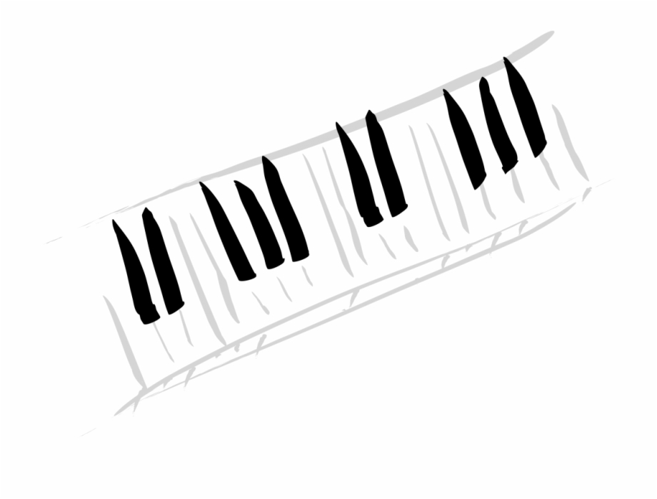 Musical instrument keyboard clipart black and white free download Artistic Piano Keys - Piano Keys Transparent Png Free PNG Images ... free download
