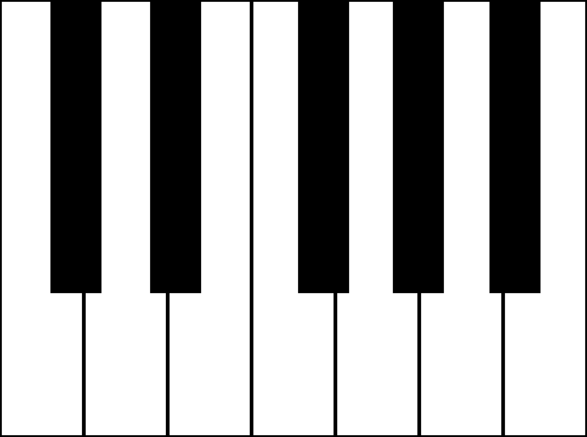 Musical instrument keyboard clipart black and white vector royalty free library Free Piano Keyboard, Download Free Clip Art, Free Clip Art on ... vector royalty free library