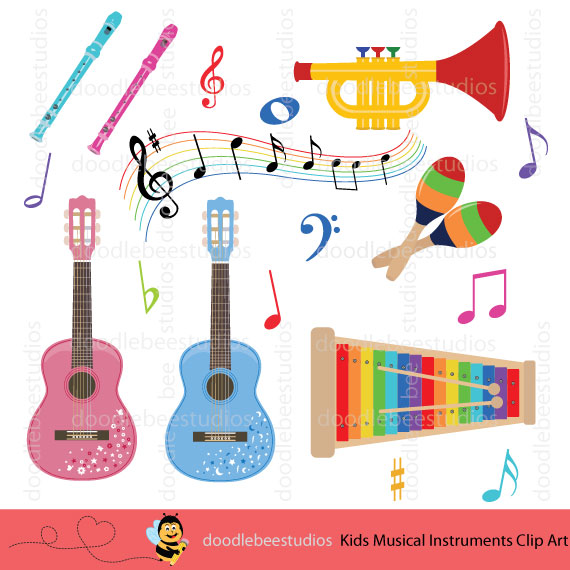 Musical instruments clipart images jpg freeuse library Kids Musical Instruments Clipart jpg freeuse library