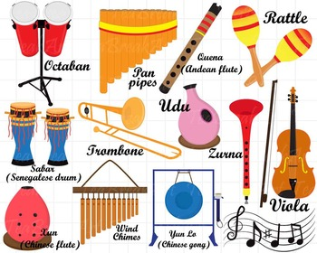 Musical instruments clipart images png free stock 26 PNG/JPG Musical Instruments ClipArt Set 2- Digital Clip Art Graphics  (128) png free stock
