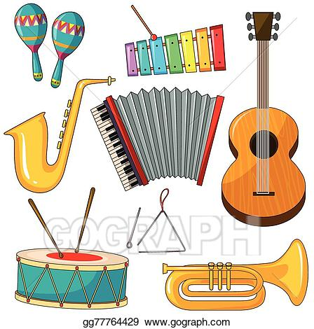 Musical instruments clipart images clip art library library Vector Stock - Instruments. Clipart Illustration gg77764429 - GoGraph clip art library library