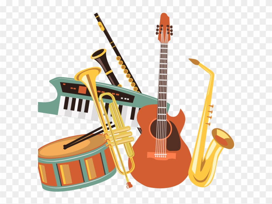 Musical instruments clipart images picture royalty free library Vector Black And White Download Paisley Music Lessons - Music ... picture royalty free library