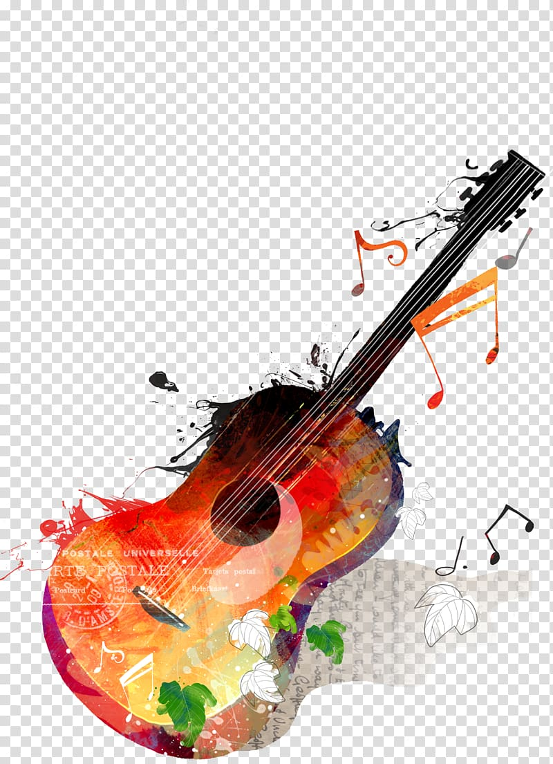 Musical instruments painting clipart picture black and white stock Brown and purple guitar painting, Guitar Music, Guitar and Music ... picture black and white stock