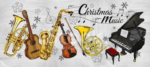 Musical instruments painting clipart jpg transparent library Christmas Music Instruments Painting premium clipart - ClipartLogo.com jpg transparent library