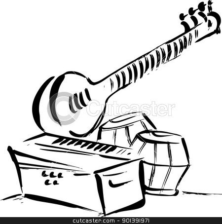 Musical instruments painting clipart svg freeuse library Pin by Sandamali Marcellinus on music in 2019 | Indian musical ... svg freeuse library