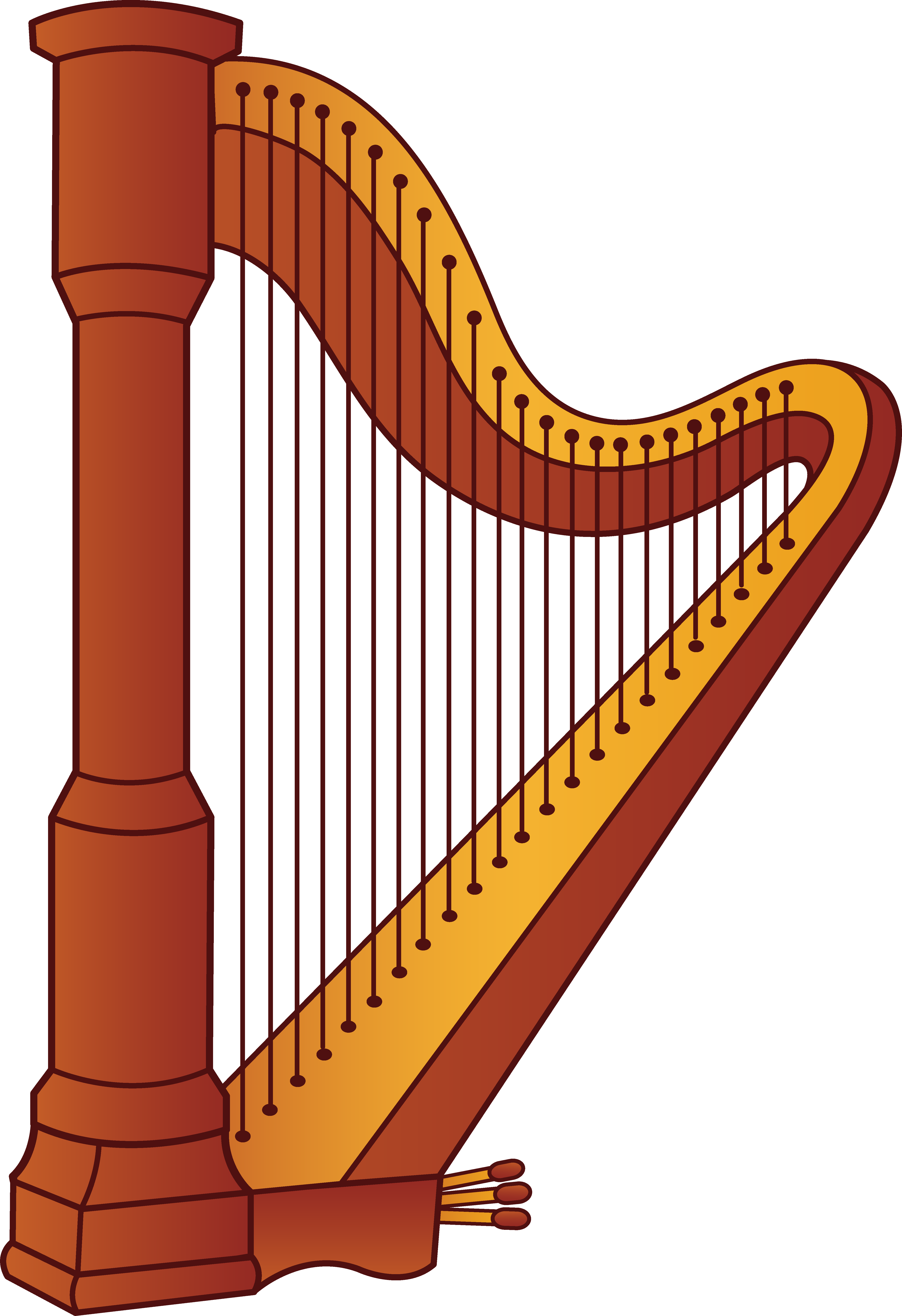 Musical thanksgiving clipart free graphic royalty free download Harp Musical Instrument | Harp music | Pinterest | Musical ... graphic royalty free download