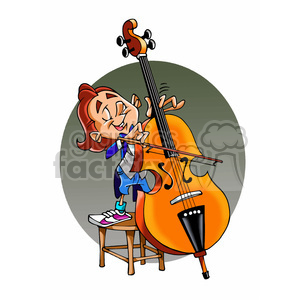 Musicin clipart banner free download child Viola musician cartoon clipart. Royalty-free clipart # 391679 banner free download