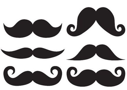 Mustache making a 1 in the end clipart png royalty free library Moustache Template, varying styles and sizes. Pick the style ... png royalty free library