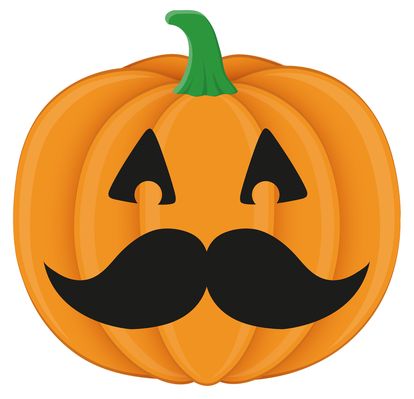 Mustache pumpkin clipart graphic black and white The Chalkboard Garden: October 2013 graphic black and white