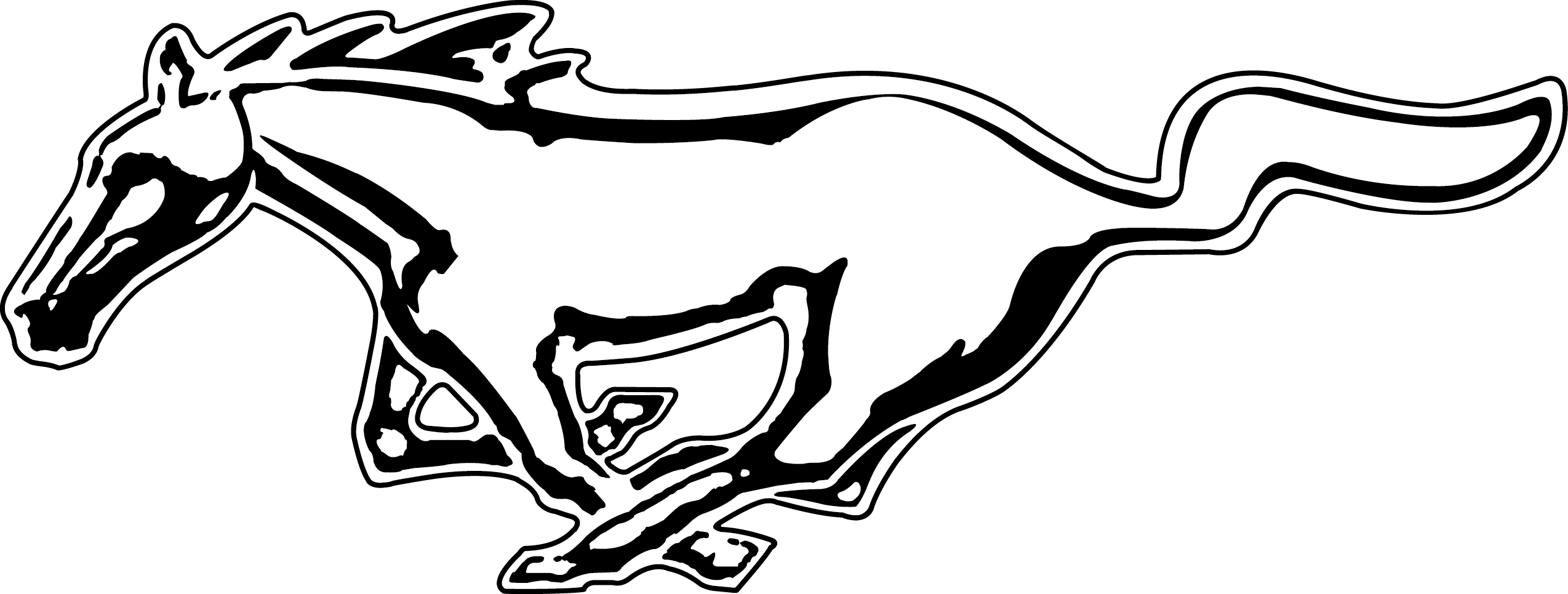 Mustang car clipart black and white stock Mustang Logo [Ford - PDF] PNG Free Downloads, Logo Brand Emblems ... stock