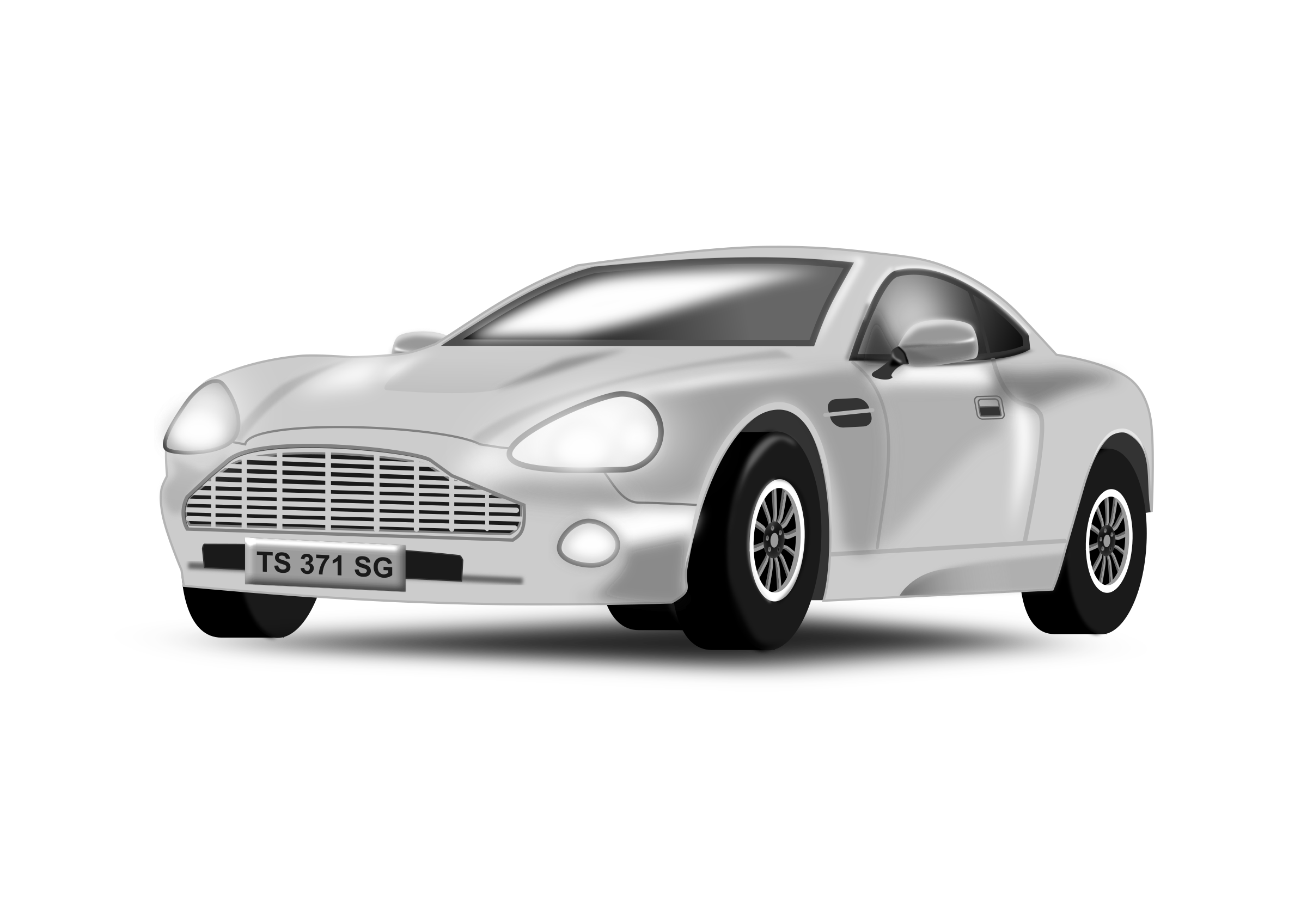 Mustang car clipart free picture transparent stock Car clipart silver ~ Frames ~ Illustrations ~ HD images ~ Photo ... picture transparent stock